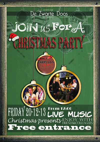 Poster Christmasparty groen