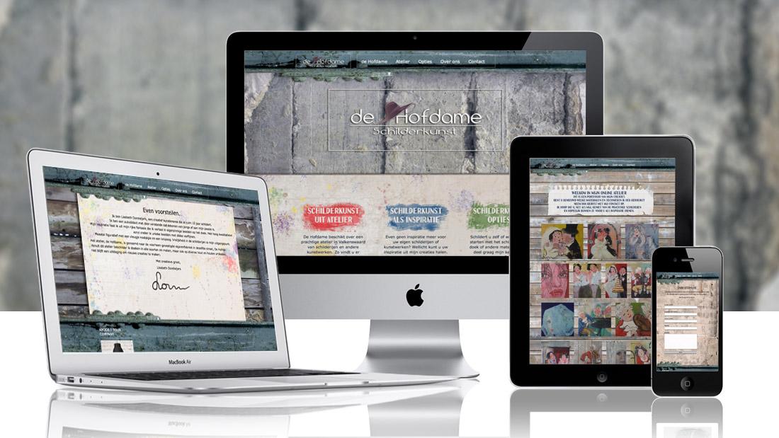 HF webdesign portfolio ontwerp