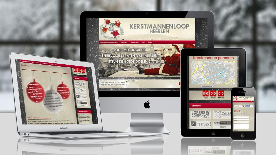 hardloopwedstrijd website ontwerp