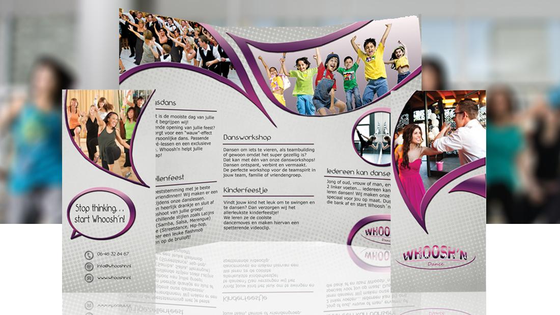 folder ontwerp dansschool